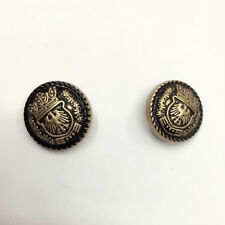 Bronze Gold Eagle Hawk Emblem Crown Coat of arms American style Button size15mm