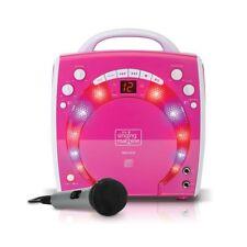 The Singing Machine Portable CD & Graphics Karaoke System Pink LN