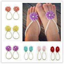 Simulated Pearl Beads Toe Anklets For Baby Kids Girls Summer Foot Jewelry 1 Pair
