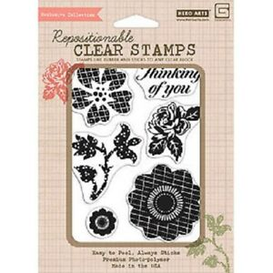 Clear Stamp 4x6 Luscious Patterened Flowers YELLOWEDThinking of You Special