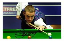 STEPHEN HENDRY AUTOGRAPHED SIGNED A4 PP POSTER PHOTO 1