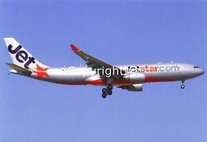 Jetstar Australia Airlines Airbus A330-200 VH-EBD Arriving Sydney 2007 Postcard
