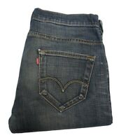 LEVIS 504 Mens Straight Regular W33 L30 Dark Blue Jeans (C306)