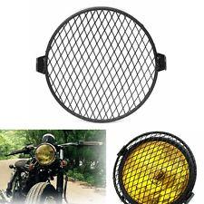 "6.4"" 16cm Universal Retro Motorcycle Motorbike Headlight Mask Cover Grill Round"