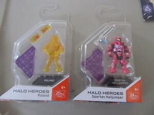 Halo Heroes Spartan Helljumper & Roland Mega Construx Mint on Card