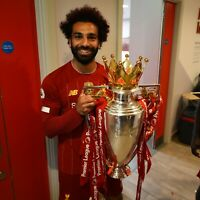 MOHAMMED SALAH LIVERPOOL HUGE UNSIGNED 16x12 PHOTO - PREMIER LEAGUE TITLE