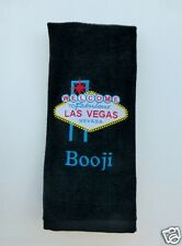 Personalized Embroidered Golf/Bowling Towel World Famous Las Vegas Sign