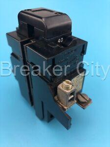 Pushmatic 40 Amp 2 Pole Type P P240 Circuit Breaker 120/240VAC *READ CHIPPED*