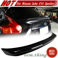 Unpaint Fit FOR Nissan JUKE F15 SUV Hatchback Rear Trunk Boot Middle Spoiler