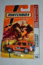 2009 MATCHBOX OUTDOOR SPORTSMAN LAND ROVER DISCOVERY ORANGE # 96 VHTF !! RARE !!