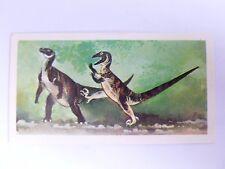 Brooke Bond Prehistoric Animals tea card 15. Deinonychus. Dinosaurs.