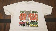 Vintage 90s Yo Quiero Cerveza, I don't want no stinking taco chiwawa shirt M