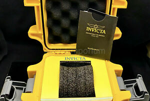 NEW Invicta One Slot Yellow Watch Collector Box Impact Resistant Case IPM10