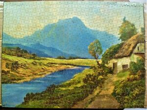 Vintage 1000 piece Cotswood Wooden Jigsaw Puzzle.