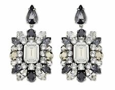 NEW SWAROVSKI by SHOUROUK PIERCED EARRINGS French Designer Black Crystal 5019161
