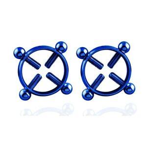 Round Non-Piercing Nipple Ring Shield Body Piercing Nickel-free Fake Piercing
