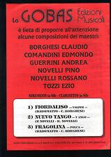 FIORDALISO - NUEVO TANGO - FRAGOLINA # SPARTITO - Clarinetto e Strumenti in SIb