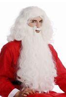 Perücke & Bart Set weiß Weihnachtsmann Santa Claus Nikolaus Knecht Ruprecht