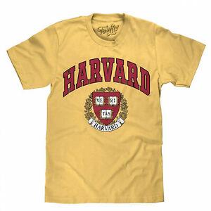 Harvard University Veritas Crest Logo T-Shirt Yellow
