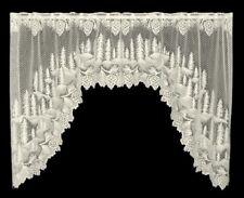 "Heritage Lace ECRU PINECONE Window Swag Pair 70""W x 38""L"