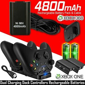For XBOX ONE Dual Charging Dock Station Controller Charger 2 Extra Battery Pack