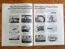 1973 Allstate Insurance Ad TV Commerecial Shows Keeps Head from Bouncing off W/S