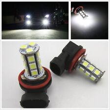 2x White 6000K H11 18-SMD 5050 LED Headlight Bulb Driving Fog Backup Light 12V