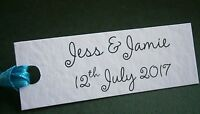 Personalised Wedding Favour Gift Tags Cards - White Ivory Kraft - Any Message
