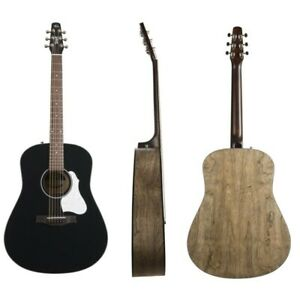 Seagull S6 Classic Black - Acoustic Guitar Dreadnought Electrified