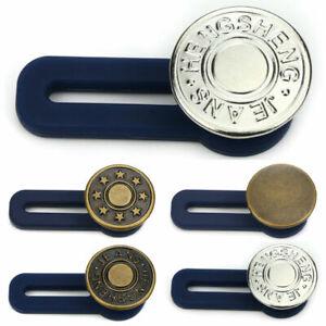 3pcs Metal Trouser Jeans Retractable Button Buckle Waist Band Extended Extender