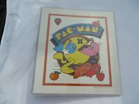 1980s Midway Pacman Fever Ghosts 3 Ring Binder  Trapper Keeper 1980