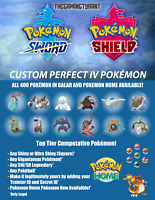 Pokemon Sword/Shield/Isle Of Armor Custom 6IV Pokemon