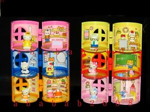 Bandai Sanrio Hello Kitty figure Family House gashapon (full set of 6 figures)