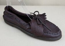 Minnetonka Chocolate Moose Leather Casual Slip On Driving Moccasins Women's 10