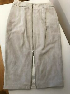 SHEIKE Suede Look Skirt Grey Size 8