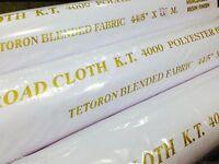 "White Cotton Fabric Material Plain Colour sold Per Metre 115cm wide (45"")"