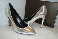 Luxury Rebel Womens NWB Victoria Silver Patent Heels Shoes EUR 38 US 7.5 M NEW