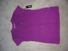 Hurley TOP Shirt Women's Size Small Burgundy NEW/NWT