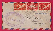 es - OCEANIE Lettre 1ère Liaison Aérienne Papeete-Nouméa 1947