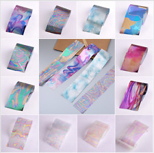 12pcs /set Nail Art Stickers Multicolor DIY Manicure Transfer Decal Water Decor