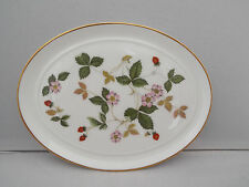 WEDGWOOD MINIATURE OVAL TRAY -  WILD STRAWBERRY PATTERN 1st QUALITY