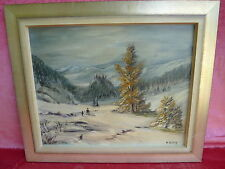 Beautiful, old painting __ Winter Wonderland __ SIGNED: Ulrich!