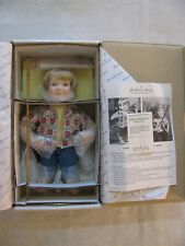 "Nib Vtg Elke Hutchens Danbury Mint 13"" Little Adventurers 'Andy' Doll, 1992"