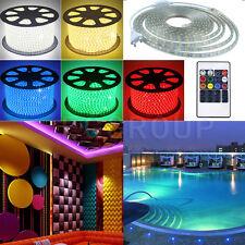 5050 5630 2835 RGB 1M-20M Waterproof IP67 LED Strips AC 220V-240V+Power EU Plug