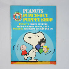 Peanuts Punch-Out Puppet Show Finger Puppets 1982 Scholastic Booklet Unpunched