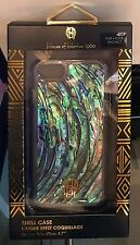 House of Harlow iPhone 7 case~Abalone Shell Inlay~ Clear Case~ Gold logo