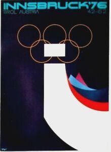 Original vintage poster OLYMPIC WINTER GAMES INNSBRUCK 1976