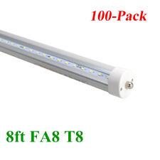 100x 8FT FA8 Single Pin 40W T12 T8 LED Tube Bulbs Bright White Clear Lens 6500K