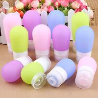 NE_ HOT Portable Silicone Travel Bottle Lotion Shampoo Cosmetic Empty Mini Conta
