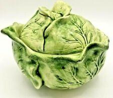 New listing Vintage 1972 Holland Mold Ceramic Lettuce Cabbage Serving Dish Bowl Lidded